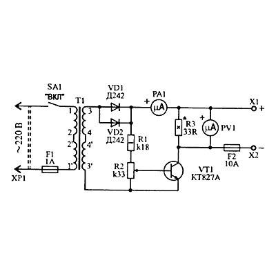 Зарядное устройство с десульфатацией