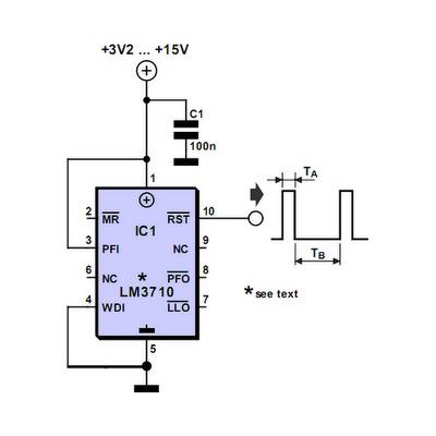 Генератор прямоугольных импульсов на LM3710