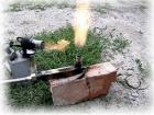 Выхлопные газы горят